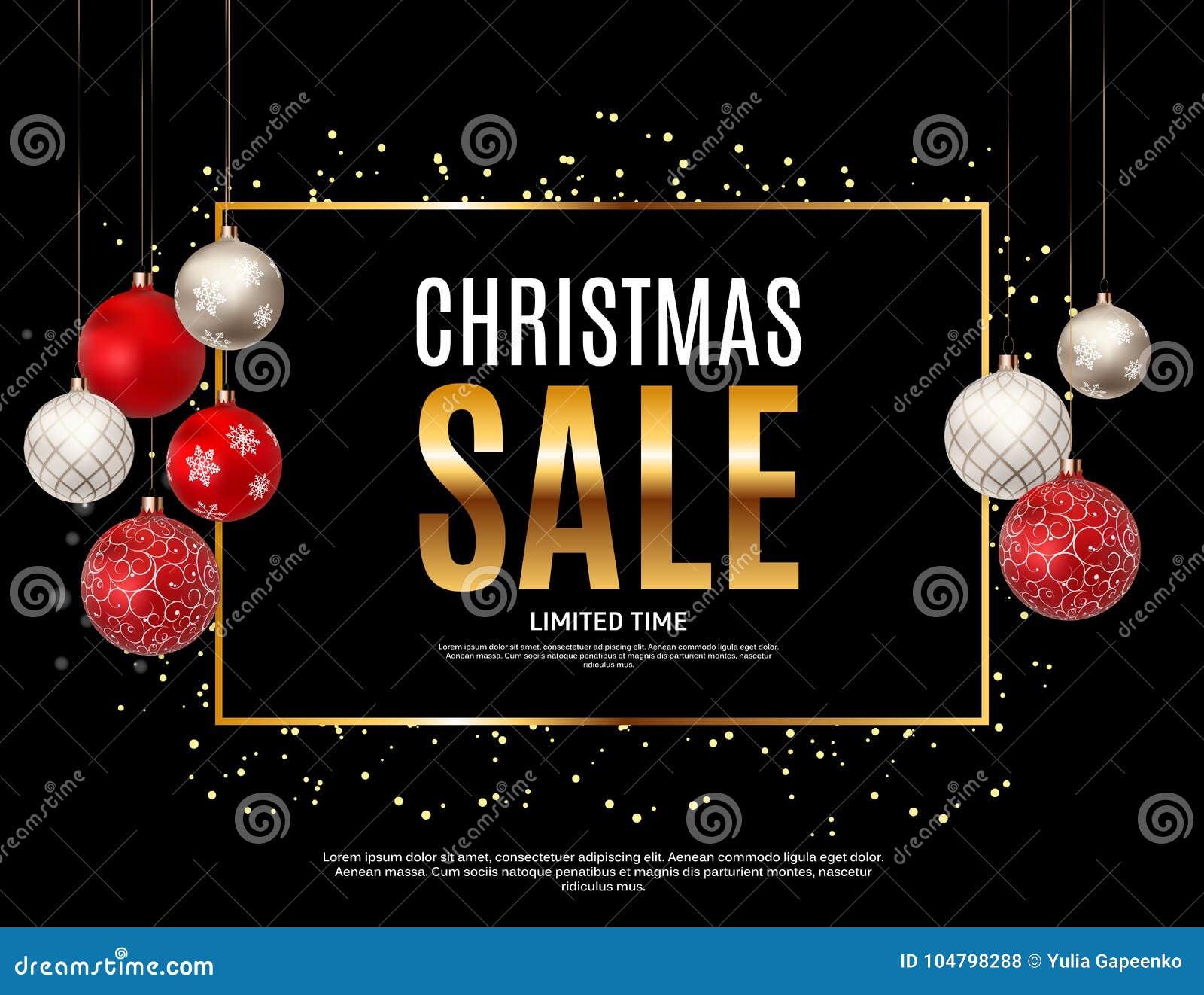 Weihnachts-und neues Jahr-Verkaufs-Hintergrund, Rabatt-Kupon-Schablone Auch im corel abgehobenen Betrag