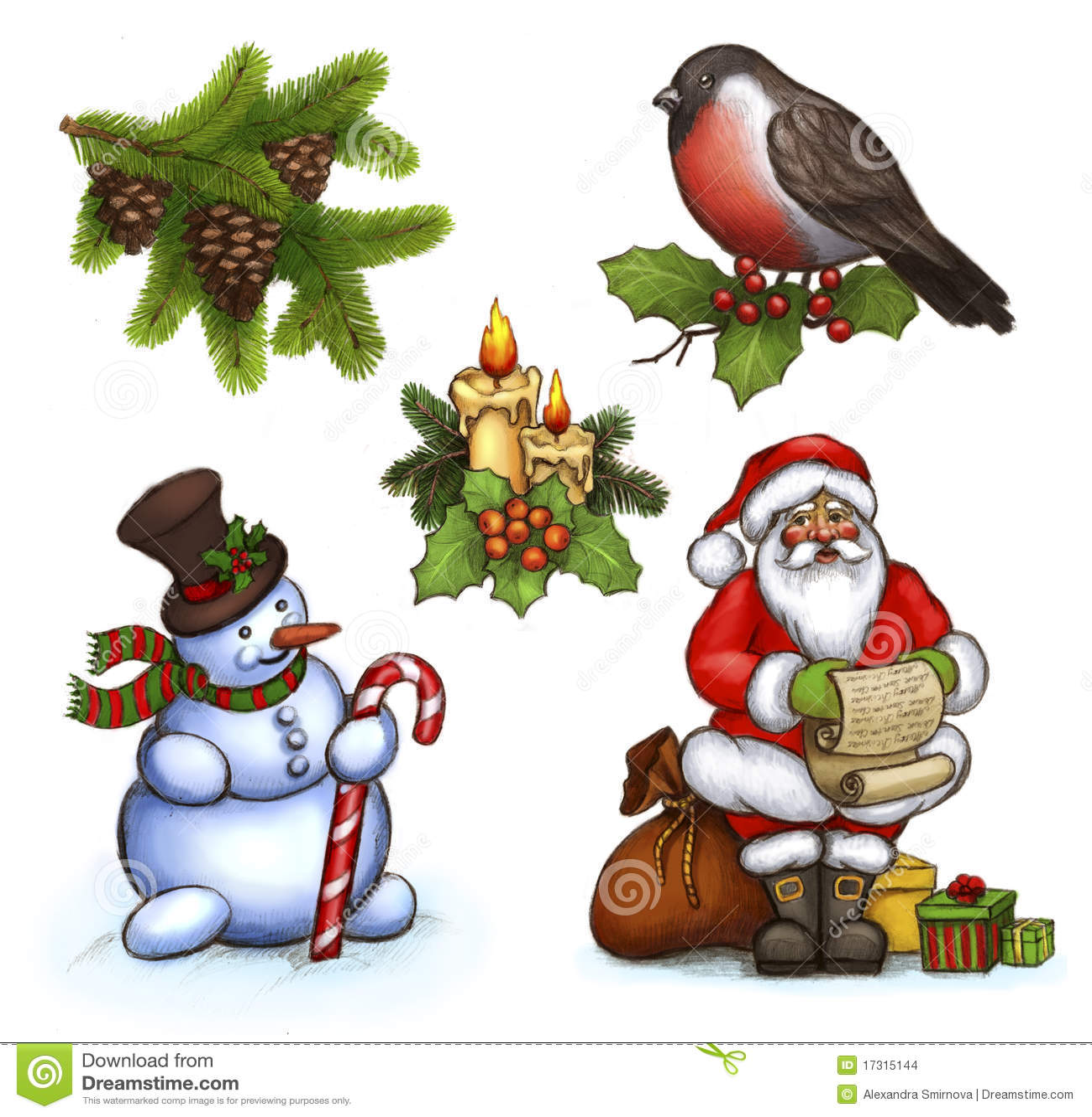 weihnachtsabbildungen stockbilder bild 17315144. Black Bedroom Furniture Sets. Home Design Ideas