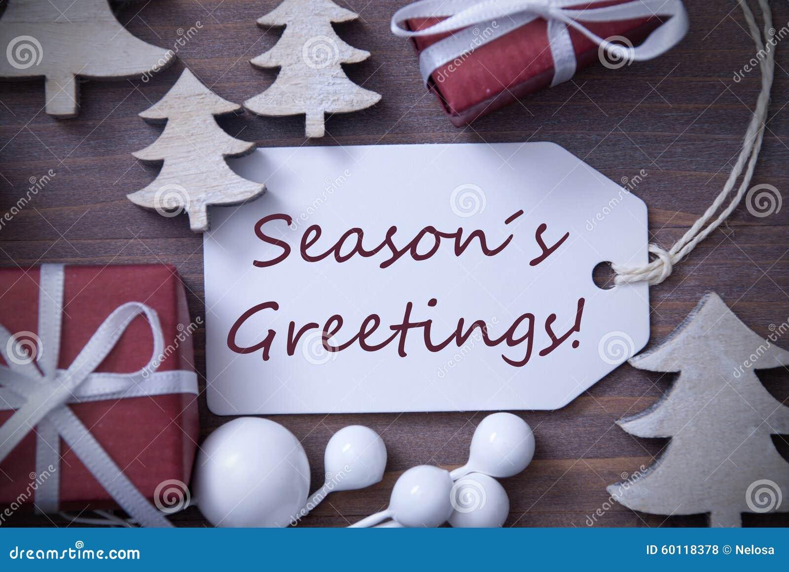 Weihnachtsaufkleber-Geschenk-Baum Würzt Grüße Stockfoto - Bild von ...