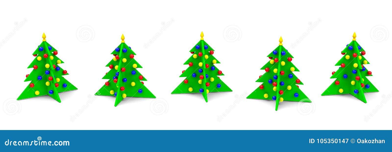 Weihnachtsbäume in Folge