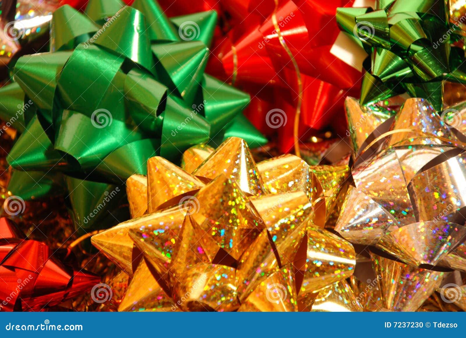 Weihnachtsbögen Auf Weißem Hintergrund Stockfoto - Bild von ...