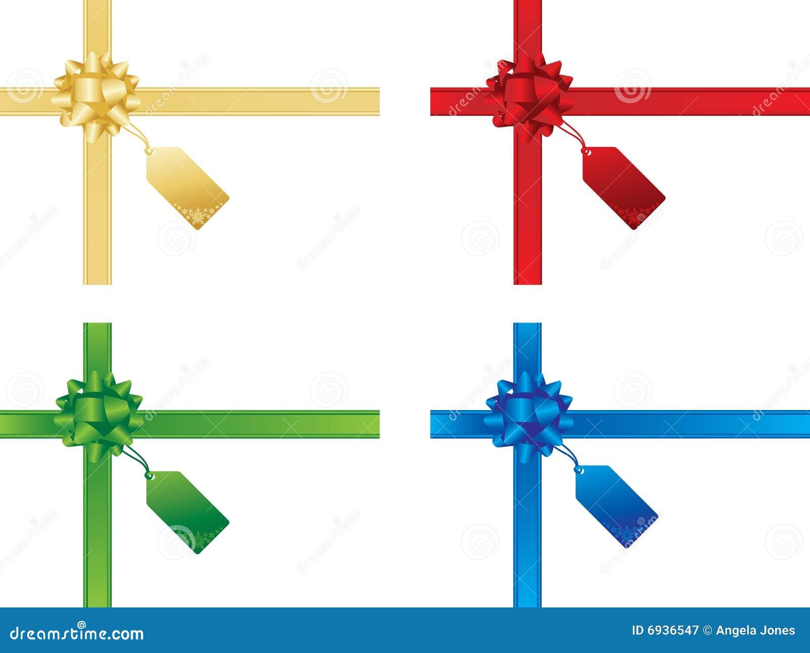 Weihnachtsbögen Und Geschenkkarten Vektor Abbildung - Illustration ...