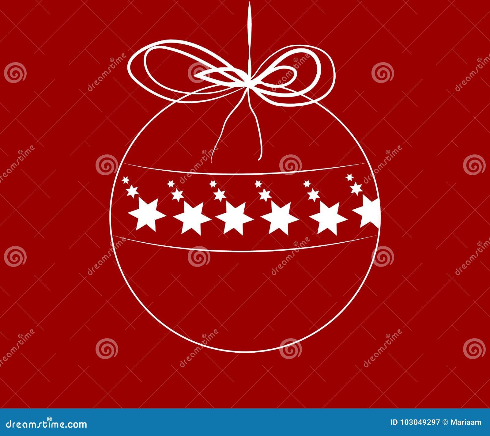 Weihnachtsball mit Sternen nach innen
