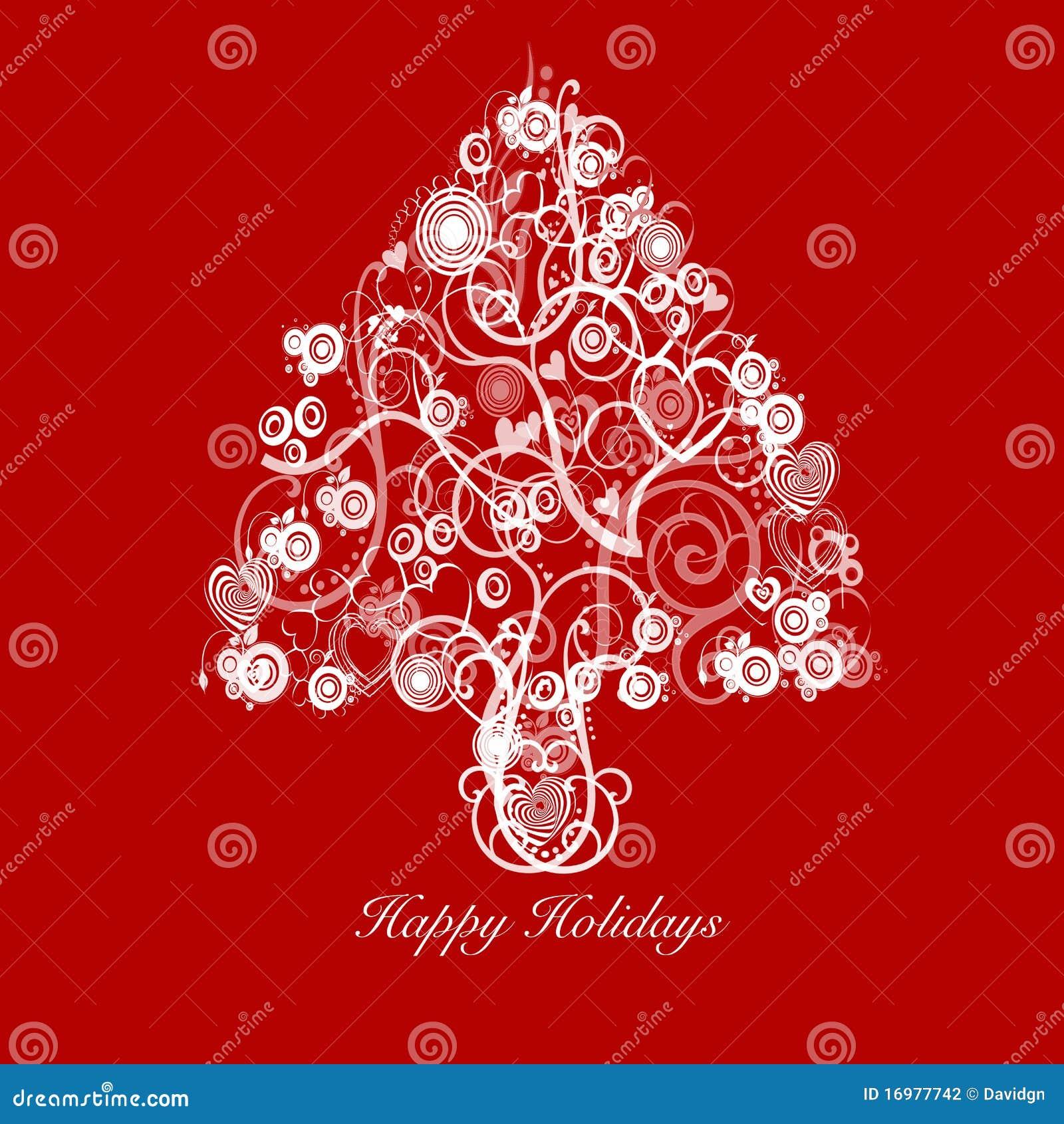 Weihnachtsbaum auszug mit strudel inner kreisen stock - Arbol de navidad artesanal ...