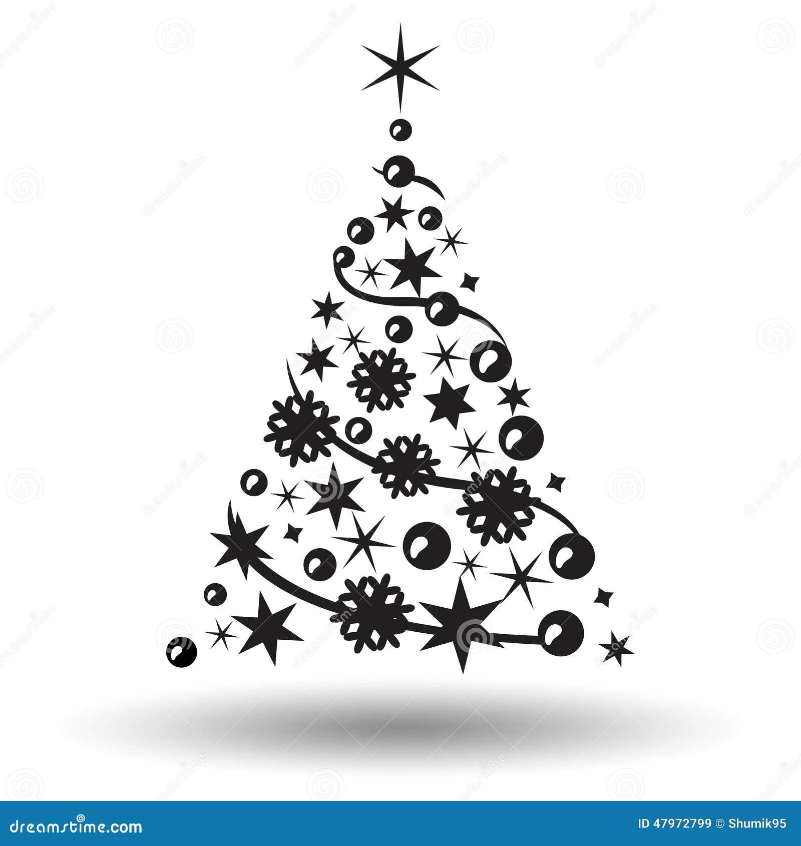 weihnachtsbaum getrennt abstraktes auslegungzeichen vektor. Black Bedroom Furniture Sets. Home Design Ideas