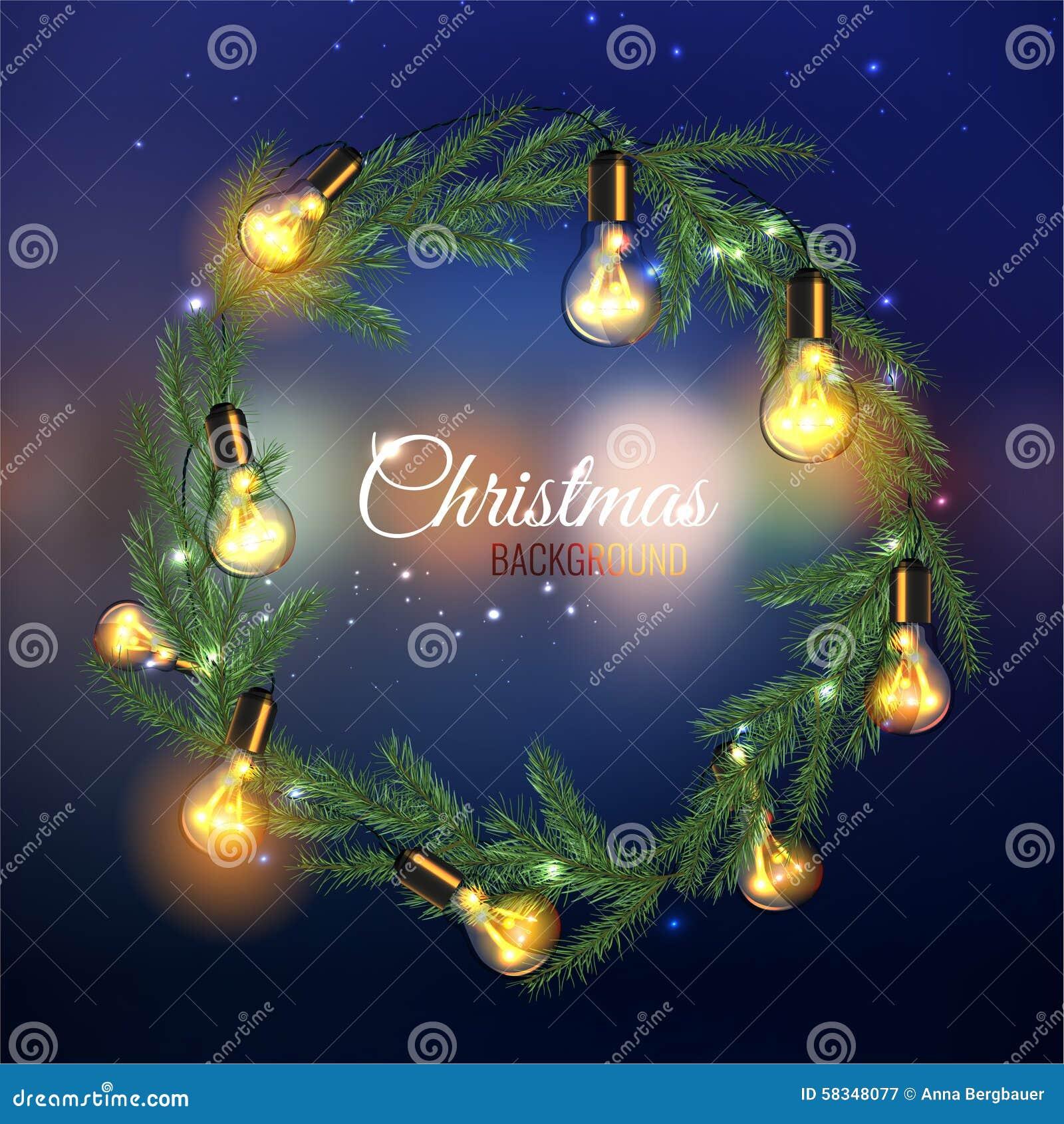 Weihnachtsbaum Girlande.Weihnachtsbaum Girlande Vektor Abbildung Illustration Von Glühen