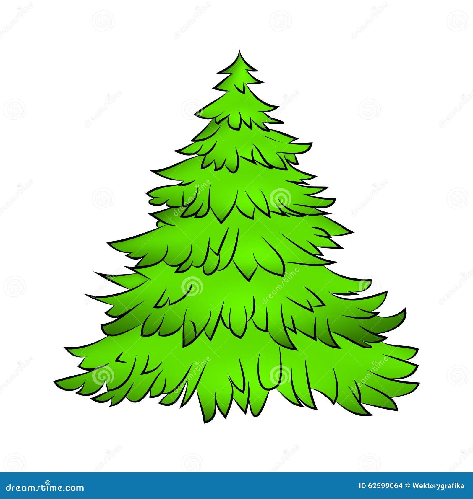 Symbol Weihnachtsbaum.Weihnachtsbaum Karikaturdesign Für Karte Ikone Symbol