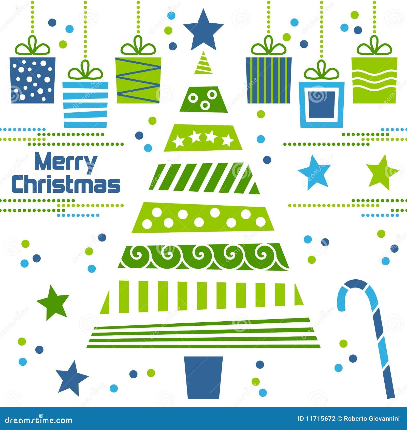 weihnachtsbaum mit geschenken stockfotografie bild 11715672. Black Bedroom Furniture Sets. Home Design Ideas