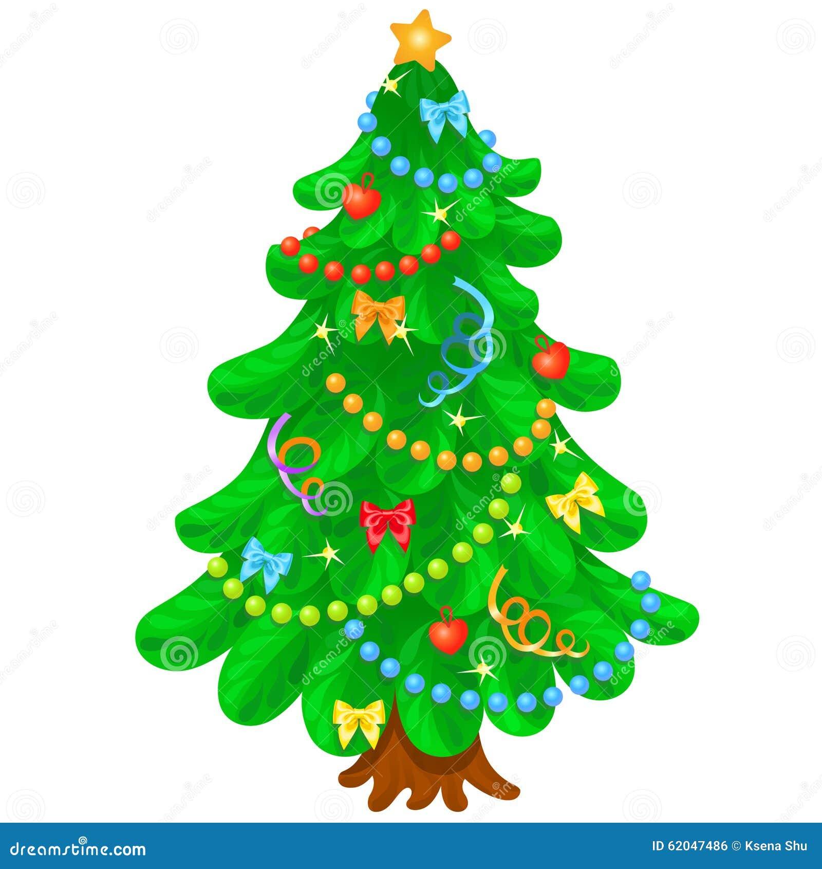 weihnachtsbaum mit hellen spielwaren im wei en hintergrund. Black Bedroom Furniture Sets. Home Design Ideas