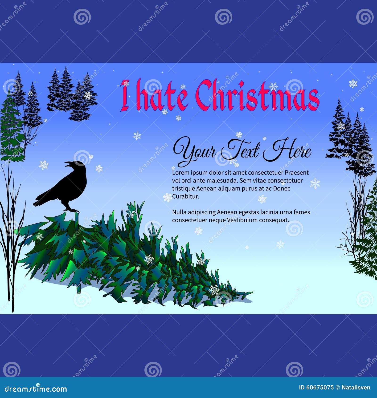 Weihnachtsbaum Mit Wörtern Hasse Ich Weihnachten Feld Für Text ...