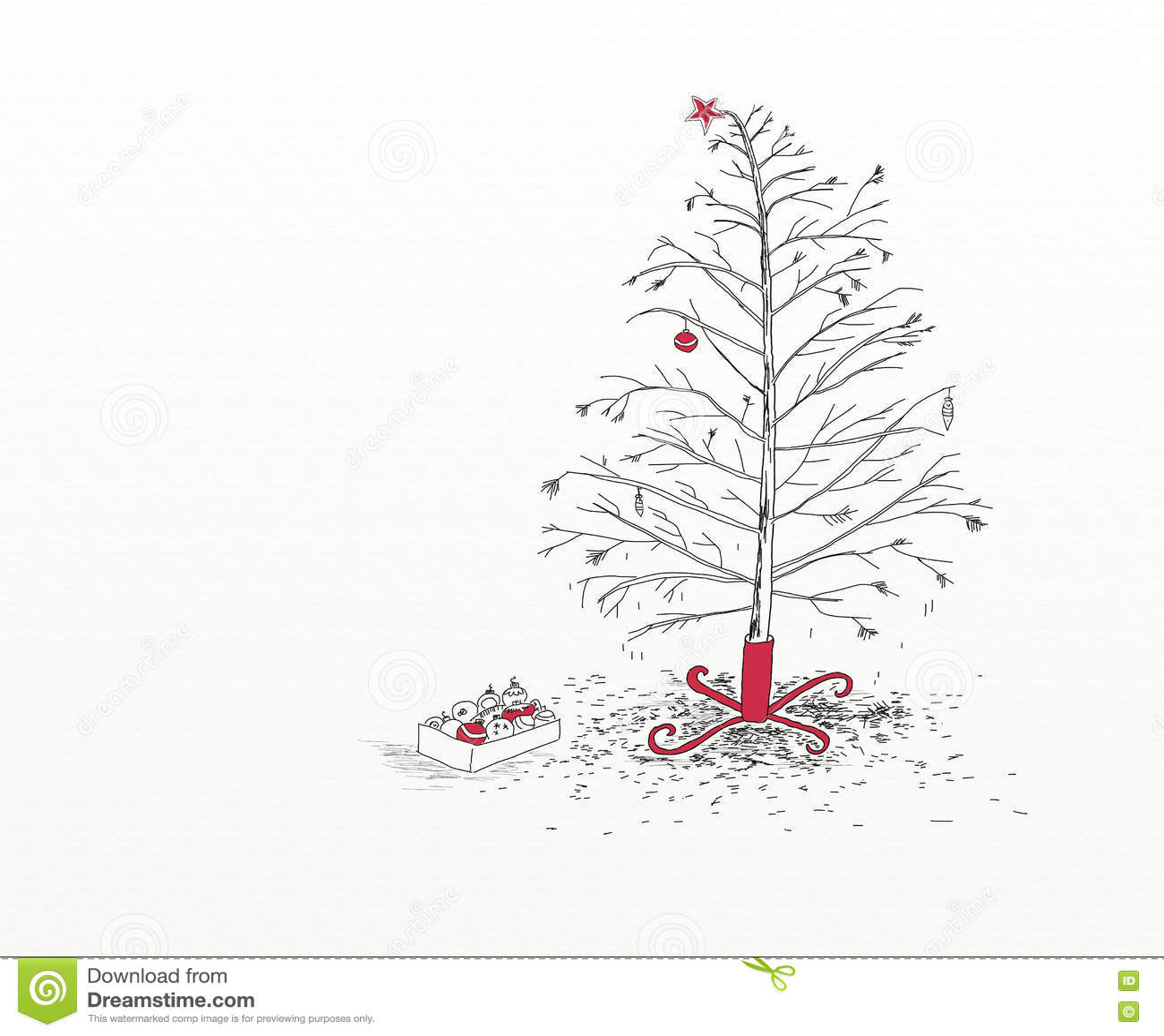 Bilder Nach Weihnachten.Weihnachtsbaum Nach Weihnachten Stock Abbildung Illustration Von