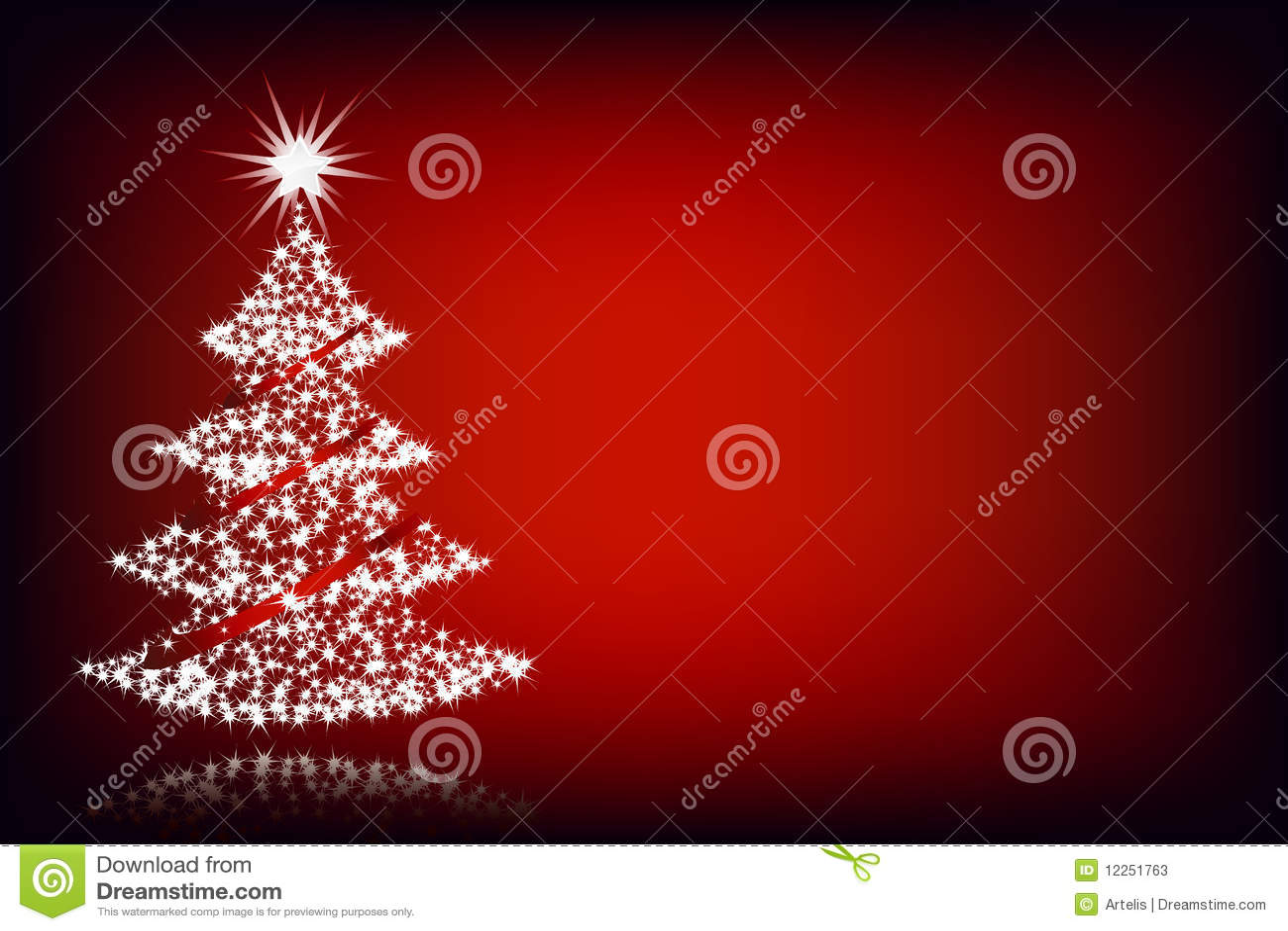 weihnachtsbaum roter hintergrund stockfotos bild 12251763. Black Bedroom Furniture Sets. Home Design Ideas