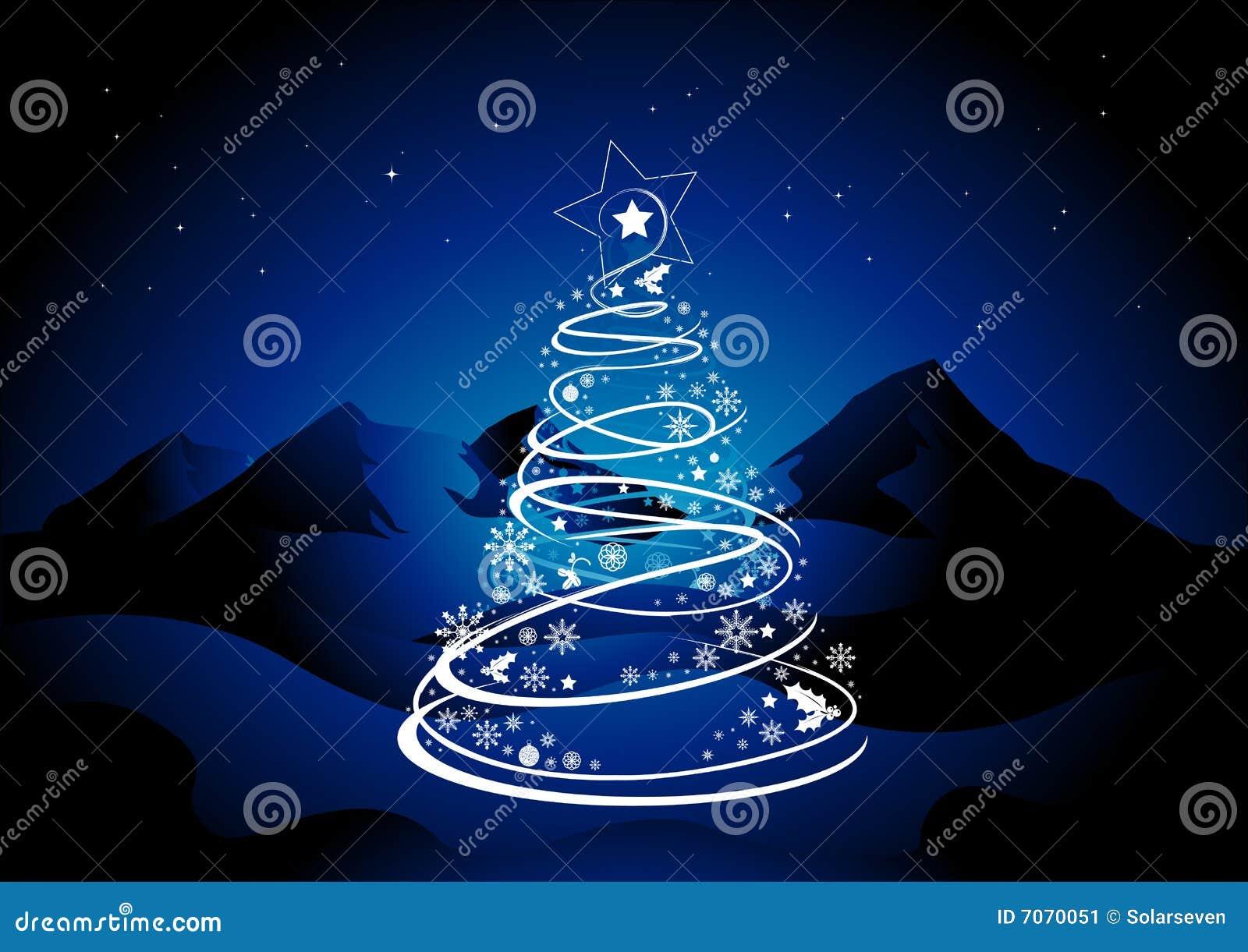 weihnachtsbaum stern stockbild bild 7070051. Black Bedroom Furniture Sets. Home Design Ideas
