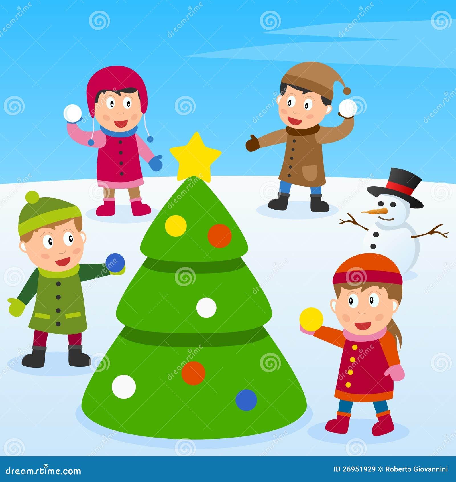 Weihnachtsbaum und Kinder