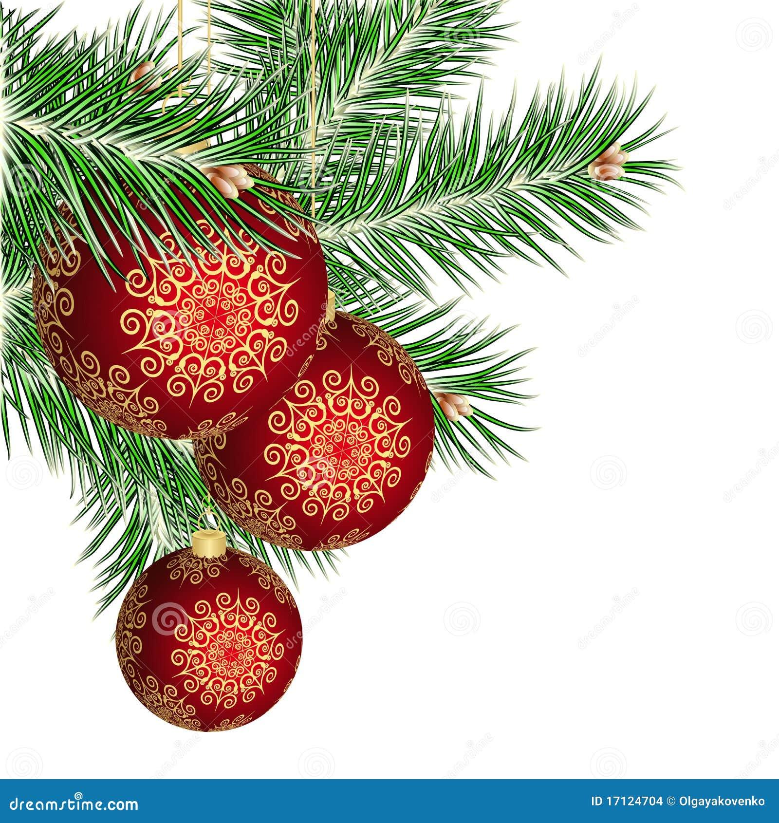 weihnachtsbaum und rote kugeln stockbilder bild 17124704. Black Bedroom Furniture Sets. Home Design Ideas