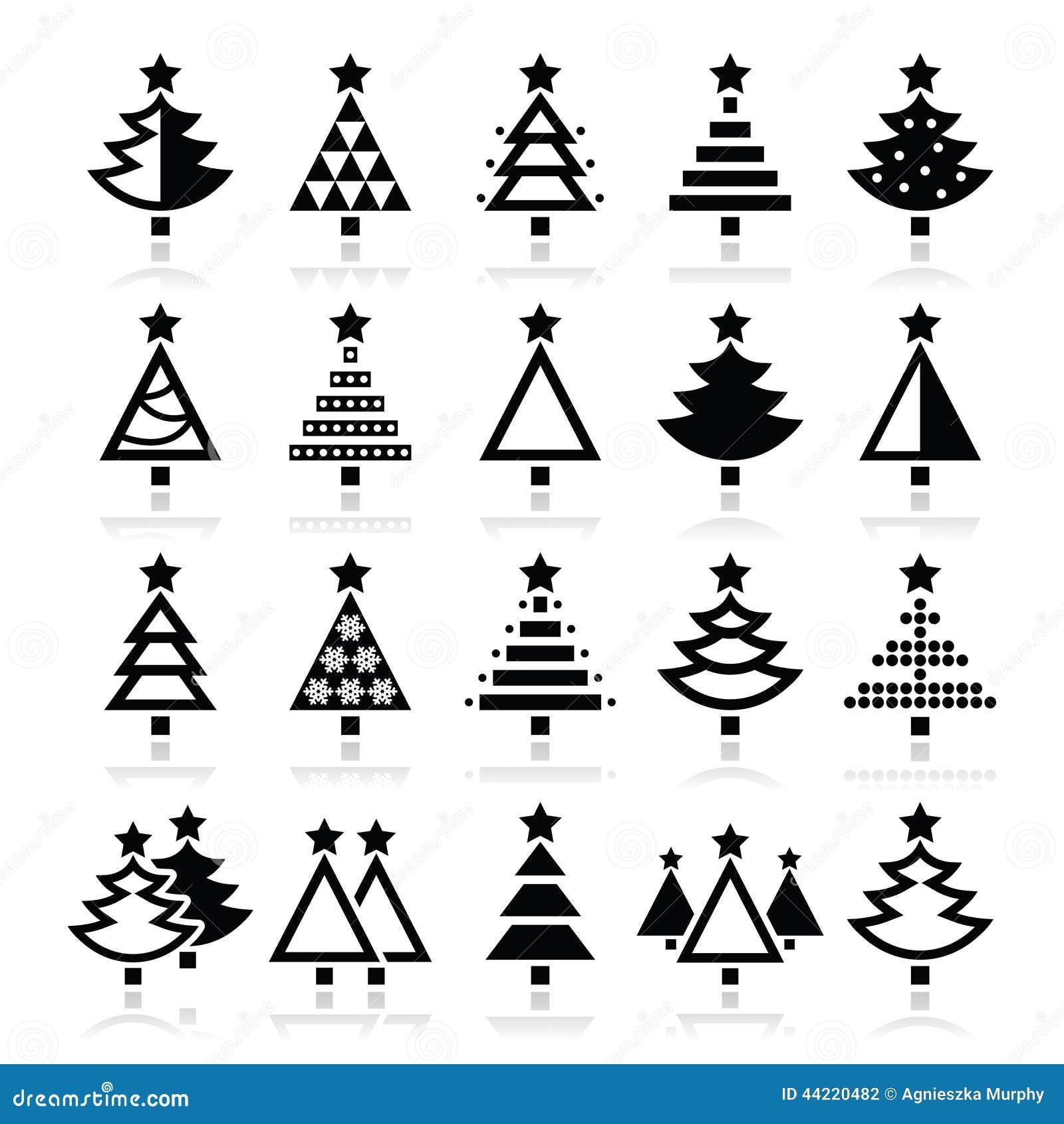 Weihnachtsbaum verschiedene arten ikonen eingestellt for Weihnachtsbaum arten