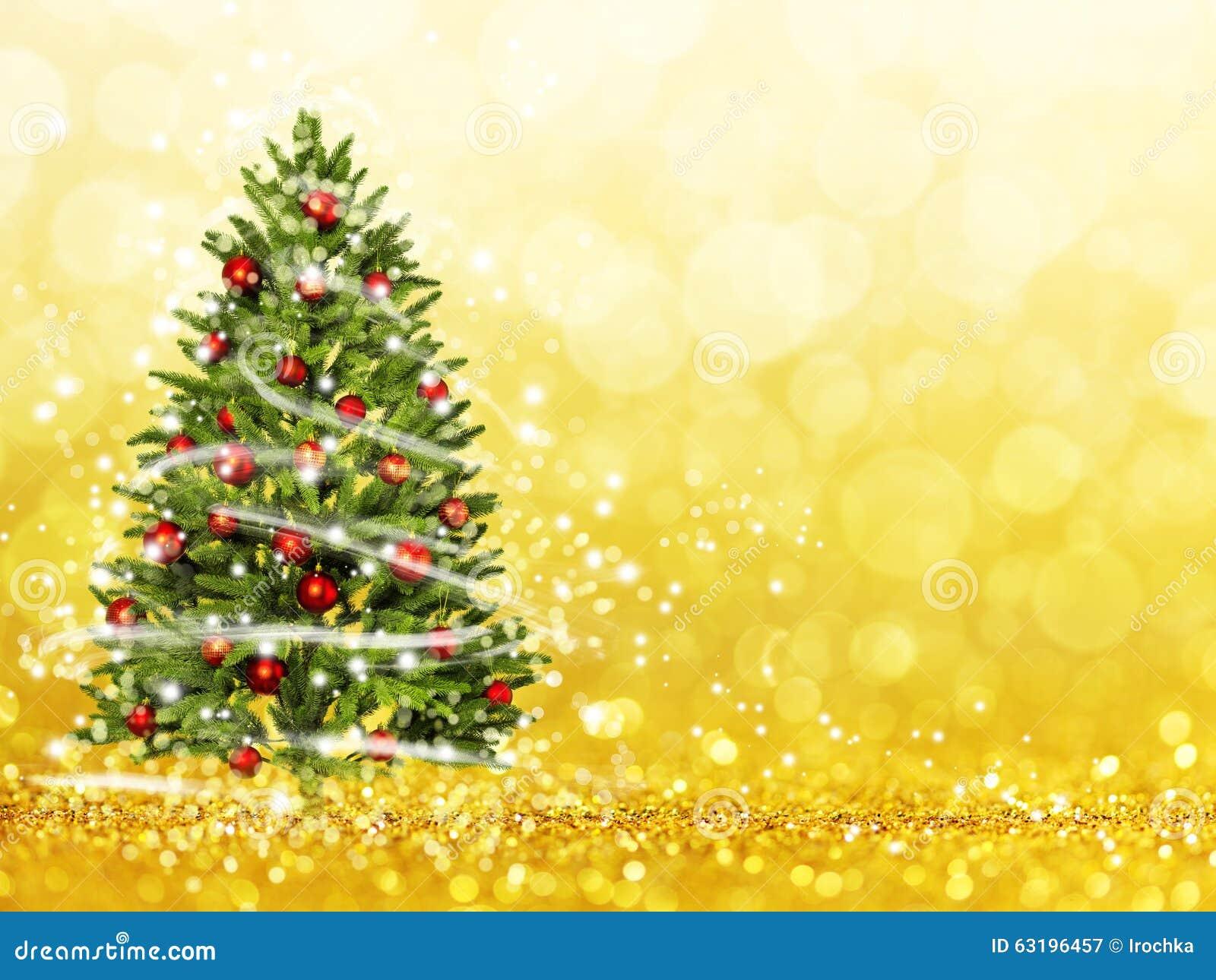 weihnachtsbaum vom weihnachten beleuchtet spiel mit dem licht stock abbildung illustration. Black Bedroom Furniture Sets. Home Design Ideas