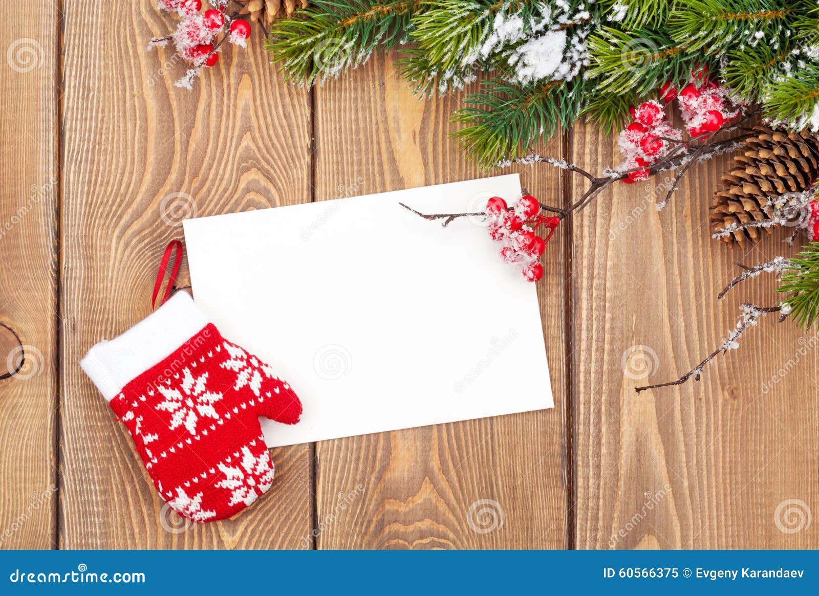Weihnachtsbaumast Und Leere Grußkarte Stockbild - Bild von nave ...
