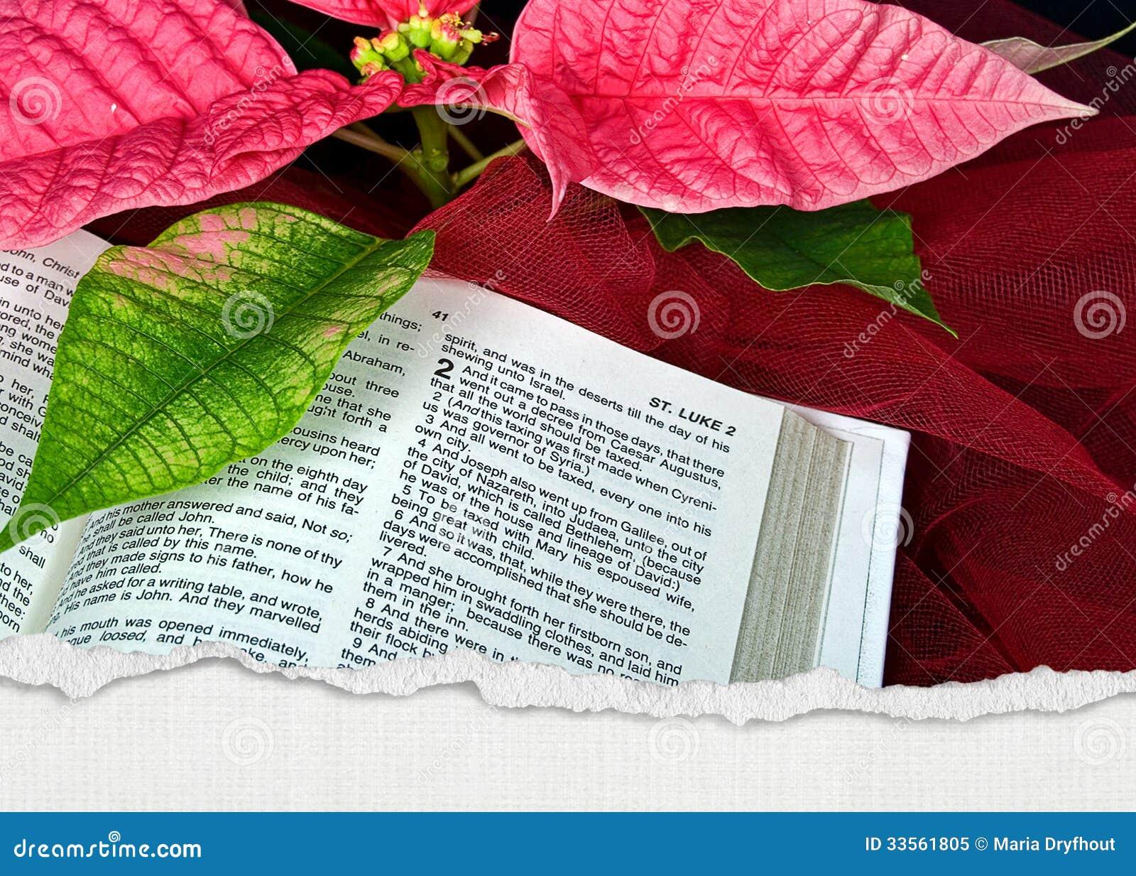 Weihnachtsbibel stock abbildung. Illustration von bibel - 33561805