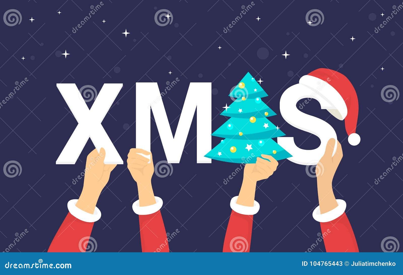 Weihnachtsbuchstaben Für Weihnachtsfeier Und -grüße Vector ...