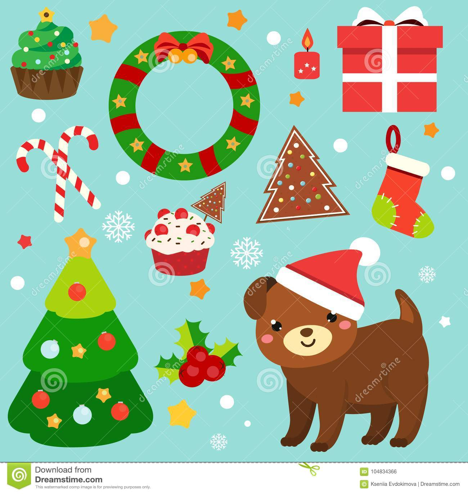 Weihnachtsclipart 2018 Aufkleber Des Neuen Jahres