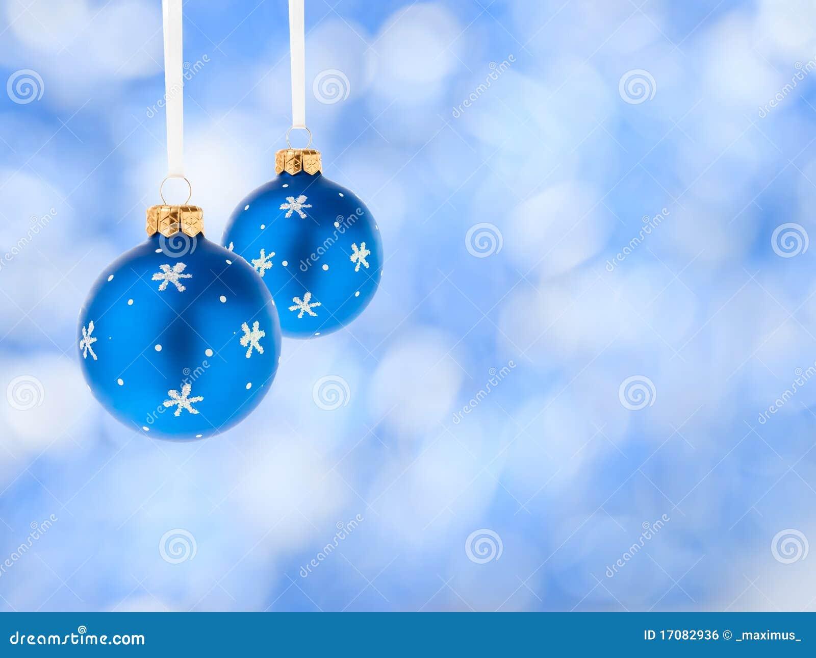 Weihnachtsdekoration-Blaukugeln