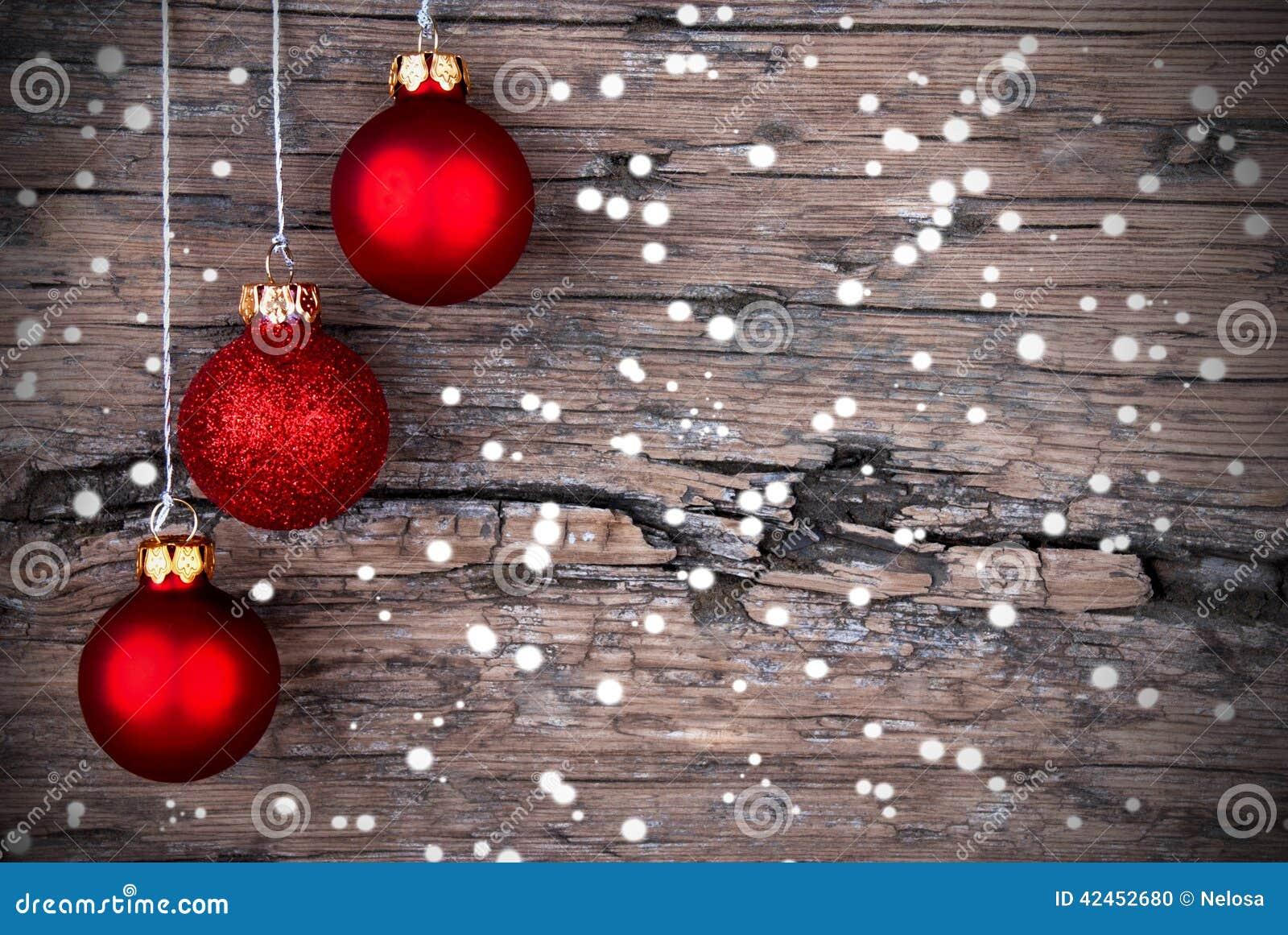 Weihnachtsdekoration mit Snow