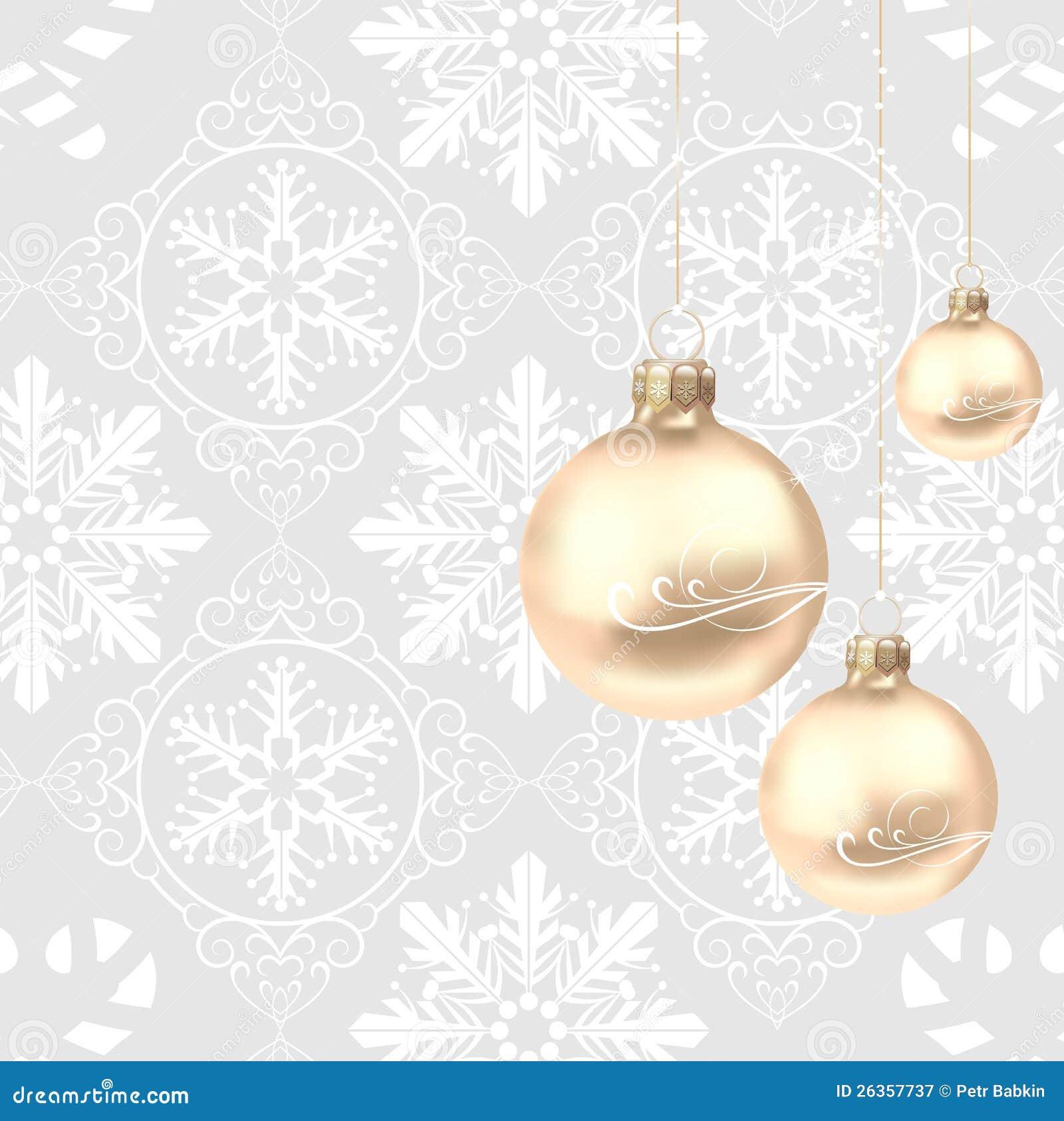 Weihnachtsdekorationen auf einem grauen Hintergrund
