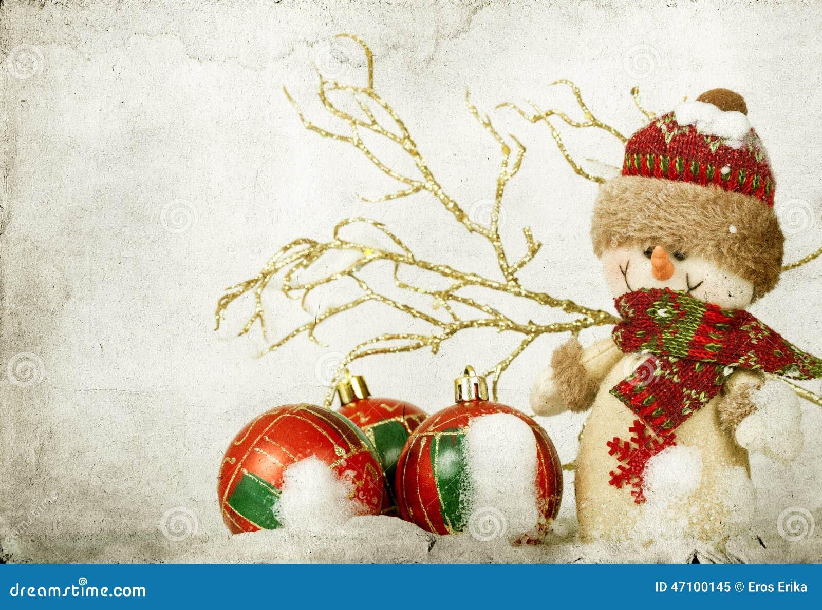 Weihnachtsdekorationen mit Schneemann
