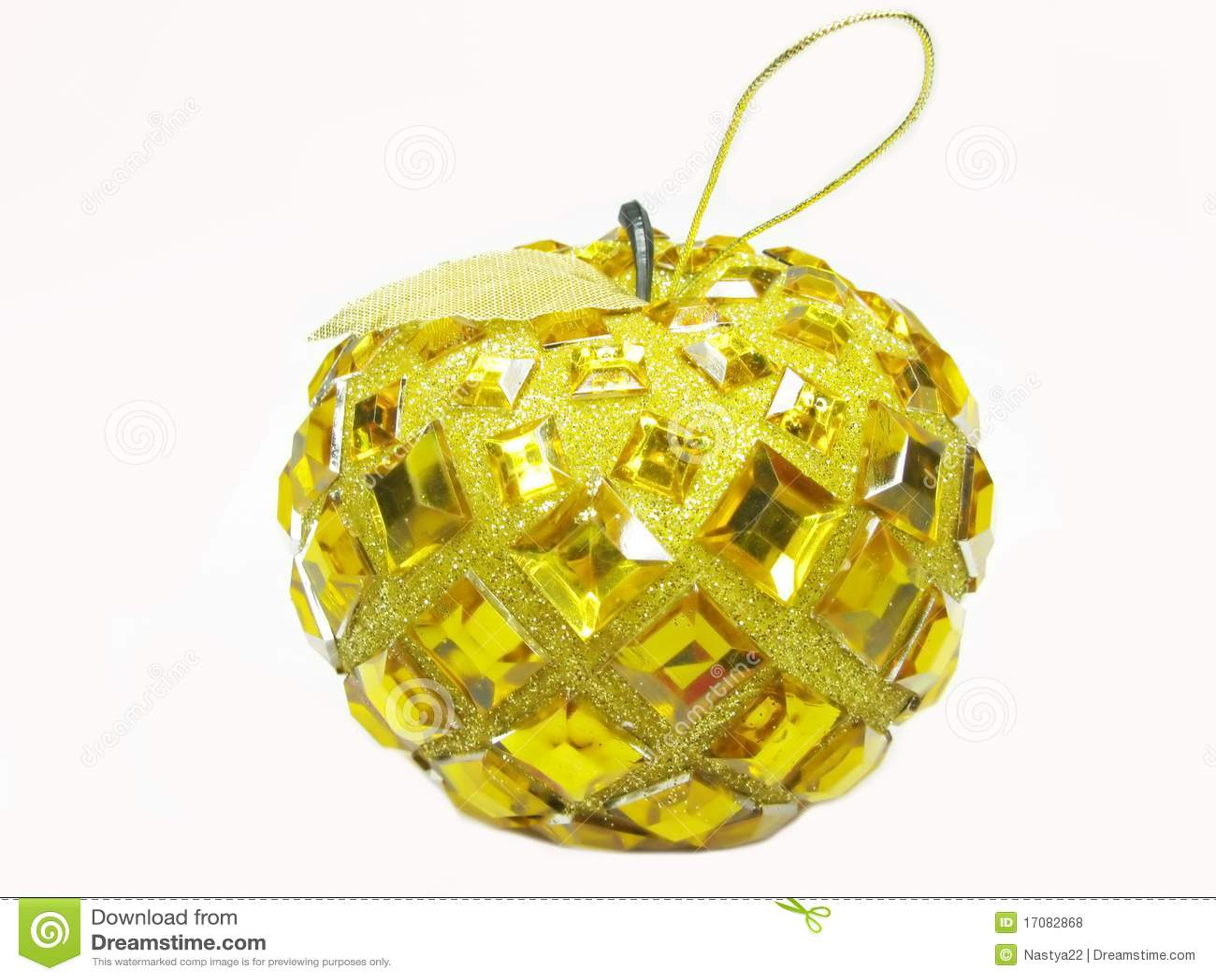 Weihnachtsdekorationgelb-Apfelkugel