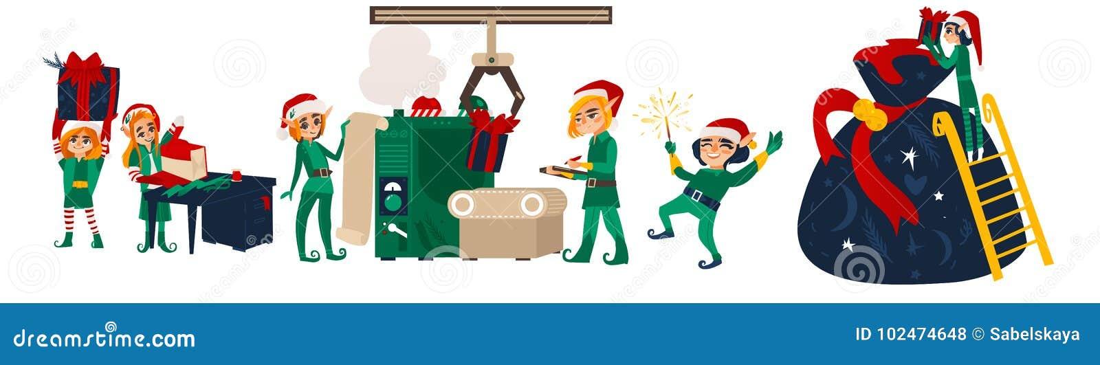 Tanzende Weihnachtselfen