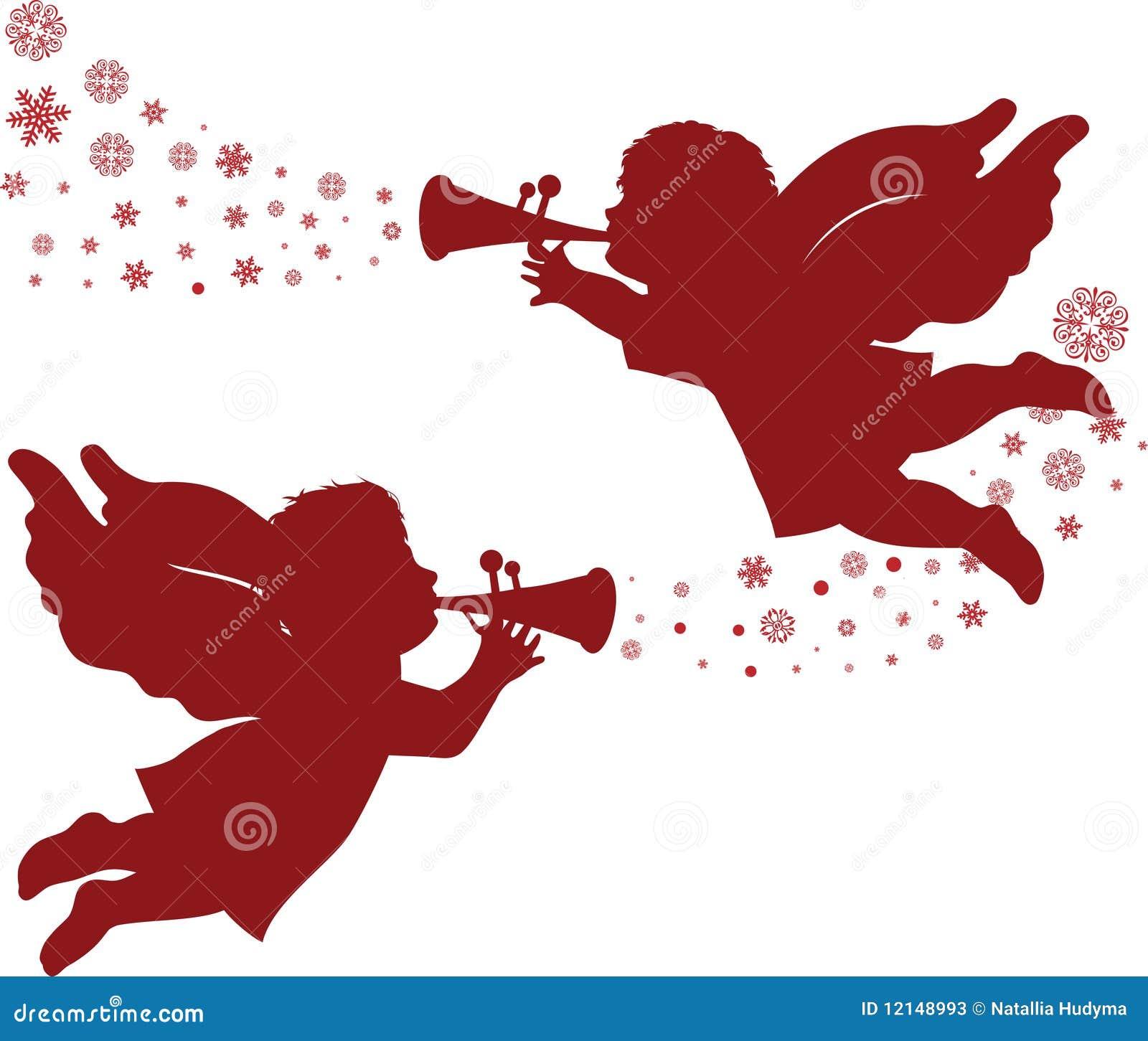 weihnachtsengel vektor abbildung illustration von
