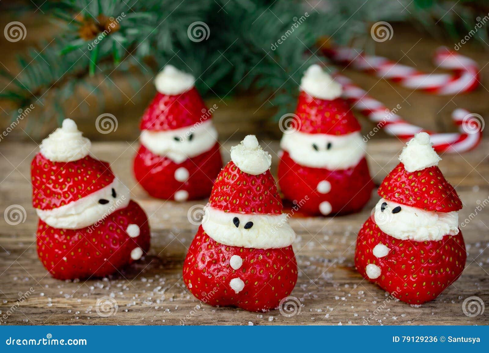 Weihnachtsessen Kindern Rezepte.Weihnachtsessenparteiideen Für Kinder Erdbeer Sankt Rezept