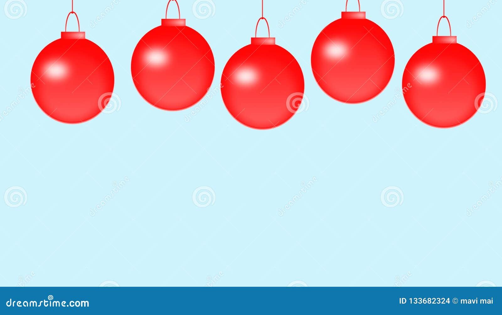 Weihnachtsfeld für Grußkarte mit dekorativen roten Verzierungen