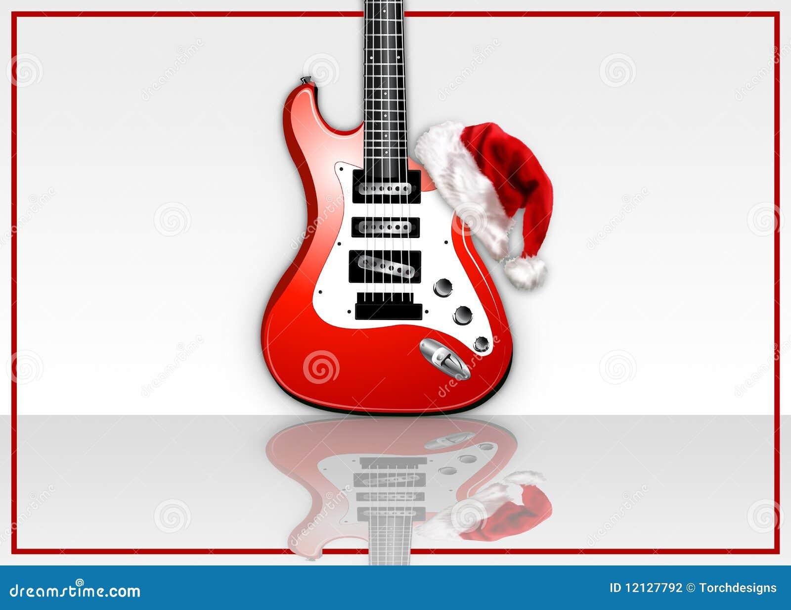 Weihnachtsfelsen-Gitarre stock abbildung. Illustration von ...