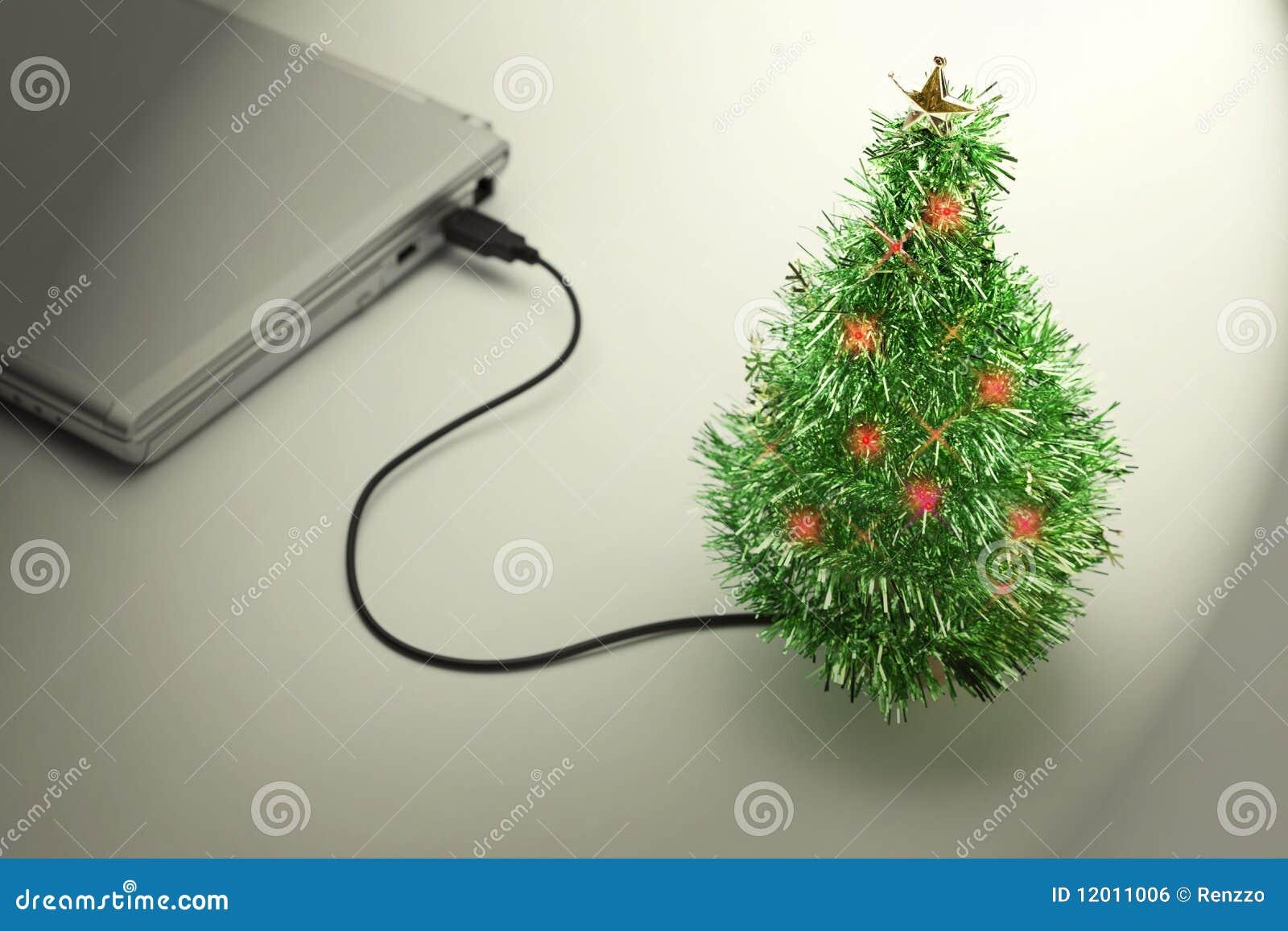 weihnachtsferien usb weihnachtsbaum stockfoto bild. Black Bedroom Furniture Sets. Home Design Ideas