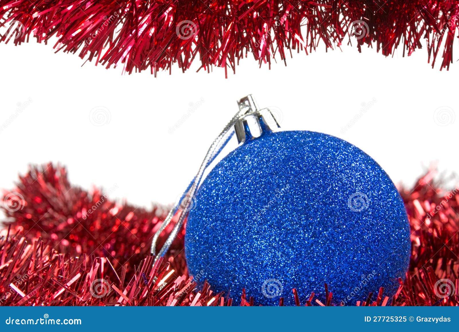 Weihnachtsfilterstreifen und blauer Flitter