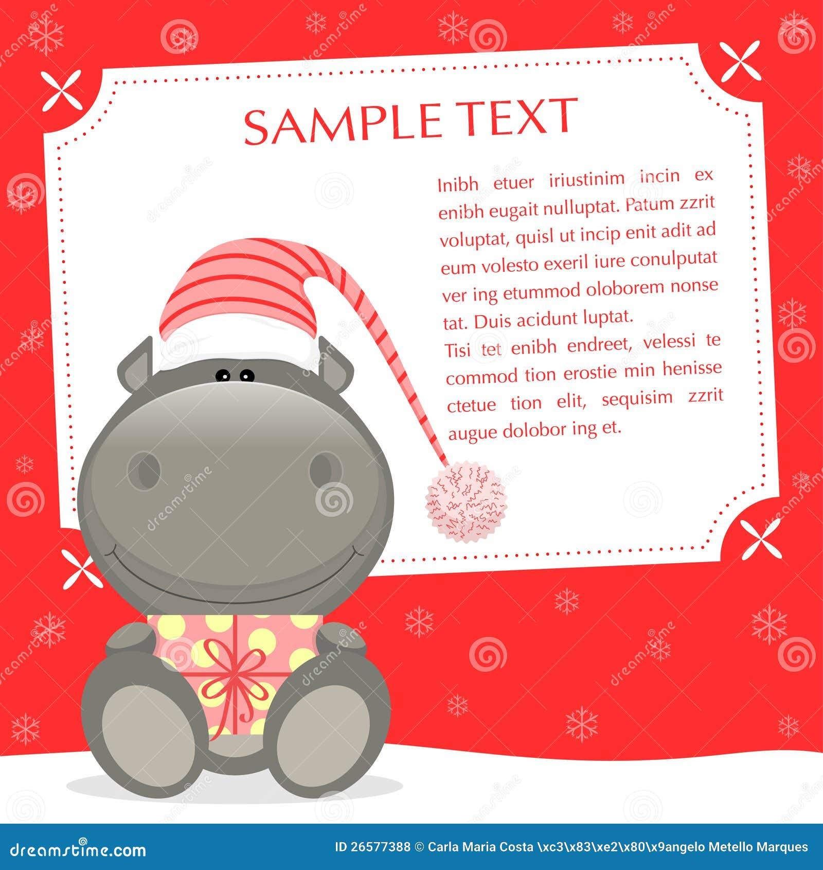 Weihnachtsflußpferd