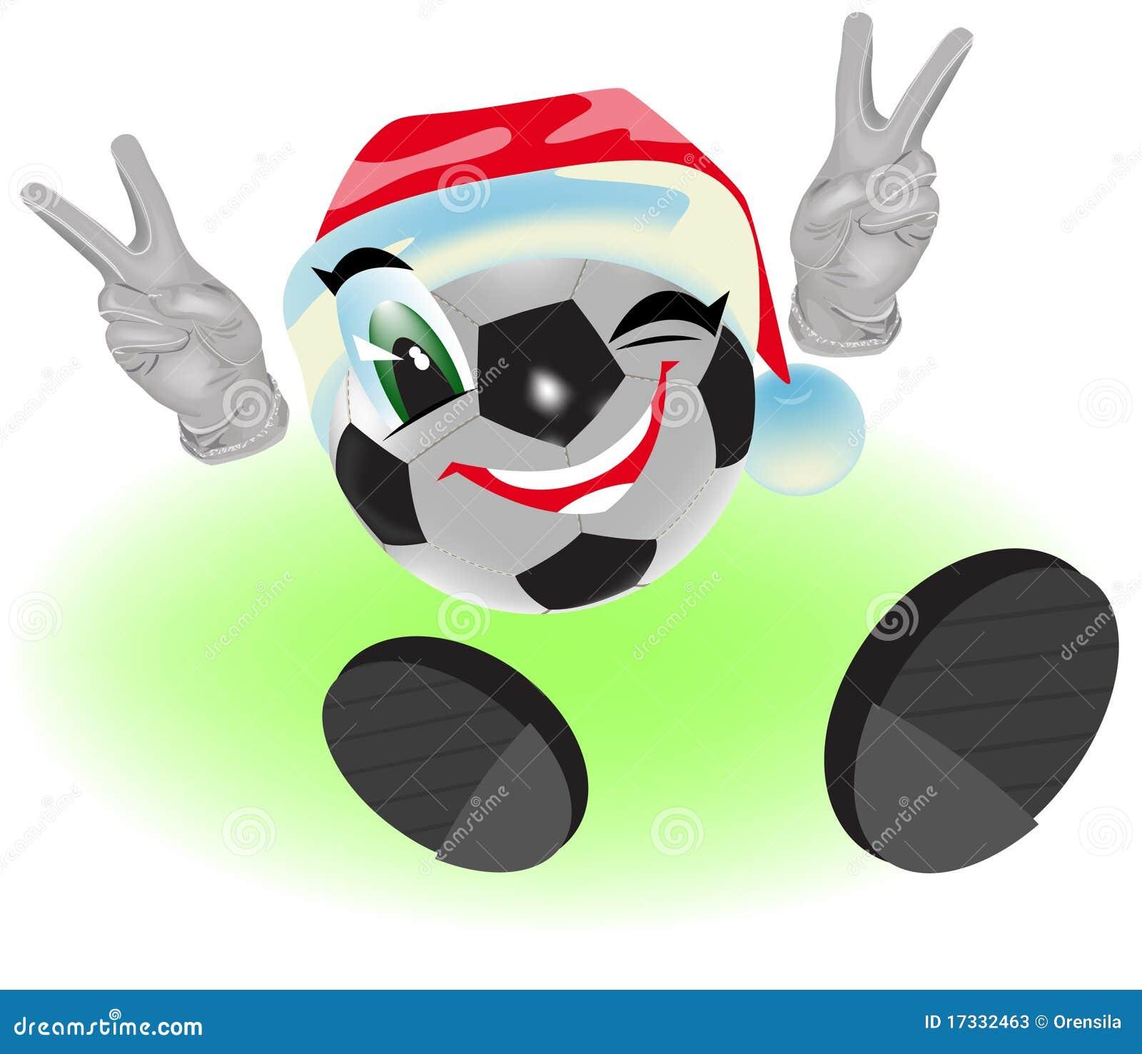 Weihnachtsfussballkugel Vektor Abbildung Illustration Von