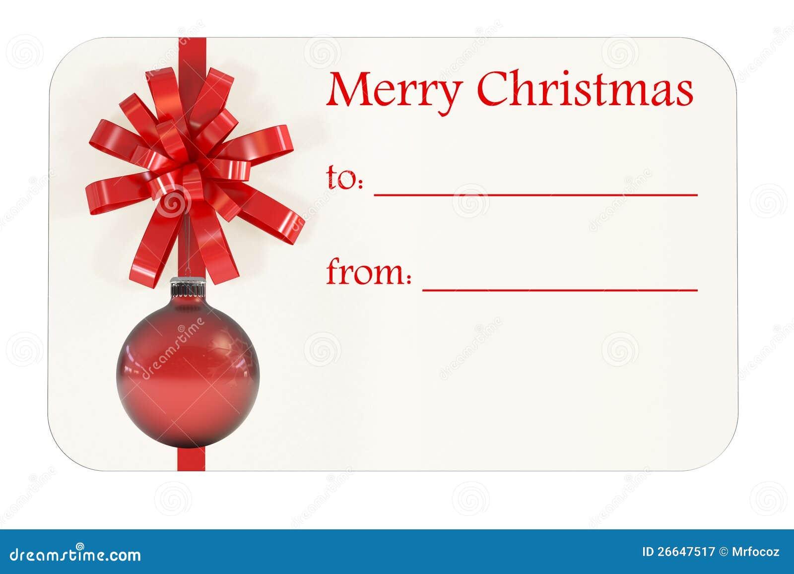 Weihnachtsgeschenk-Karte stock abbildung. Illustration von bogen ...