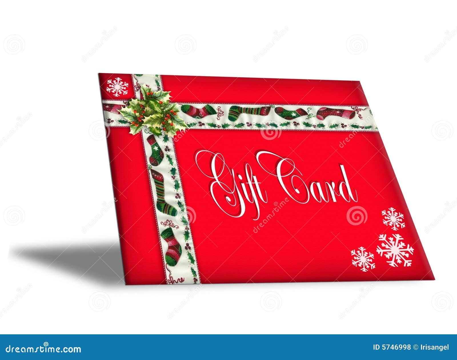 Weihnachtsgeschenk-Kartenabbildung 3D Stock Abbildung - Illustration ...