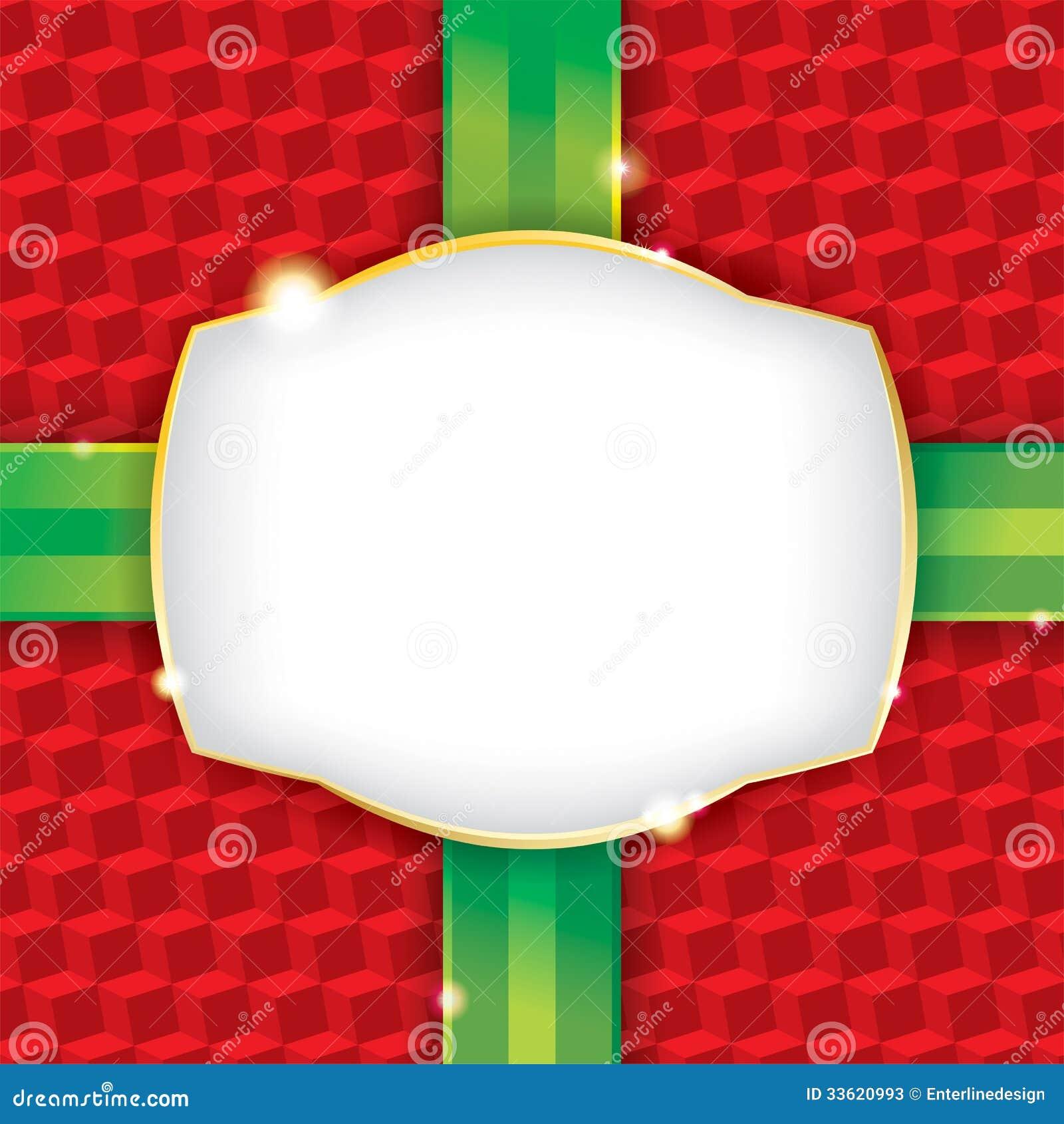 Weihnachtsgeschenk-Packpapier-Hintergrund Vektor Abbildung ...