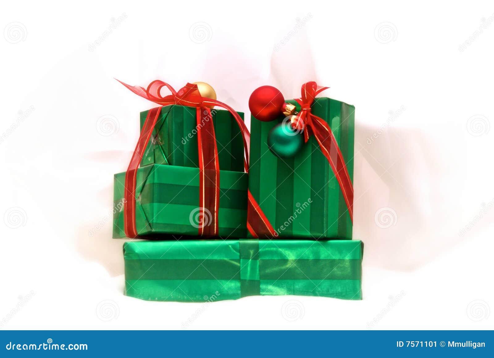 Weihnachtsgeschenke stockbild. Bild von geschenke, weiß - 7571101