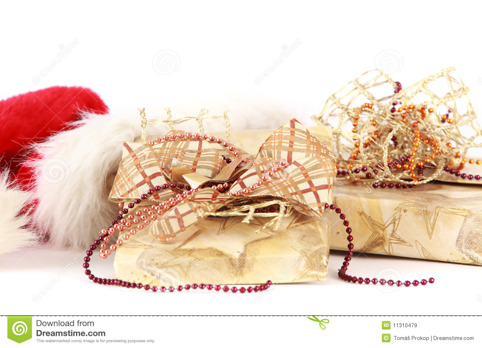 Weihnachtsgeschenke Sankt in der Schutzkappe