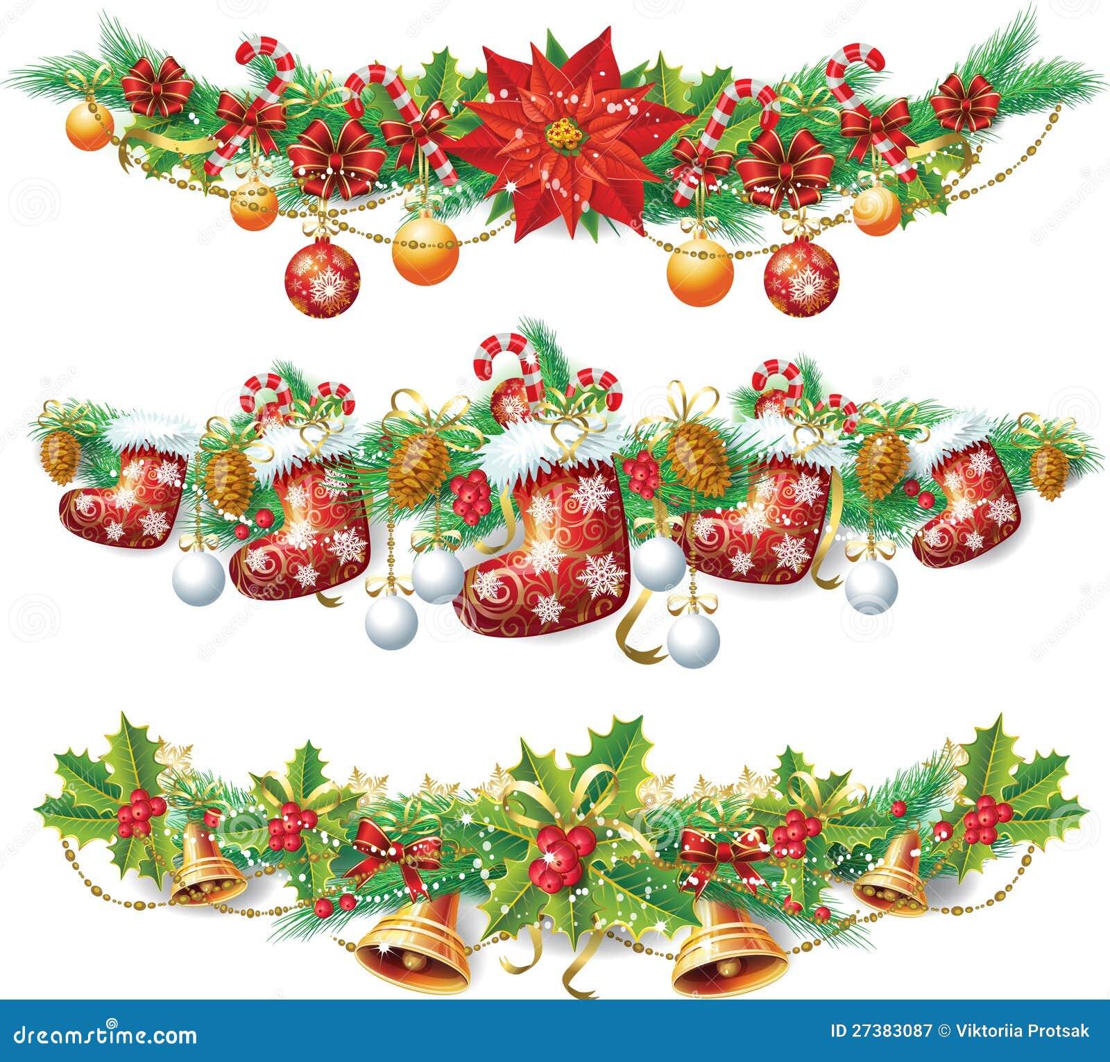 Weihnachtsgirlande Vektor Abbildung Illustration Von Glückwunsch