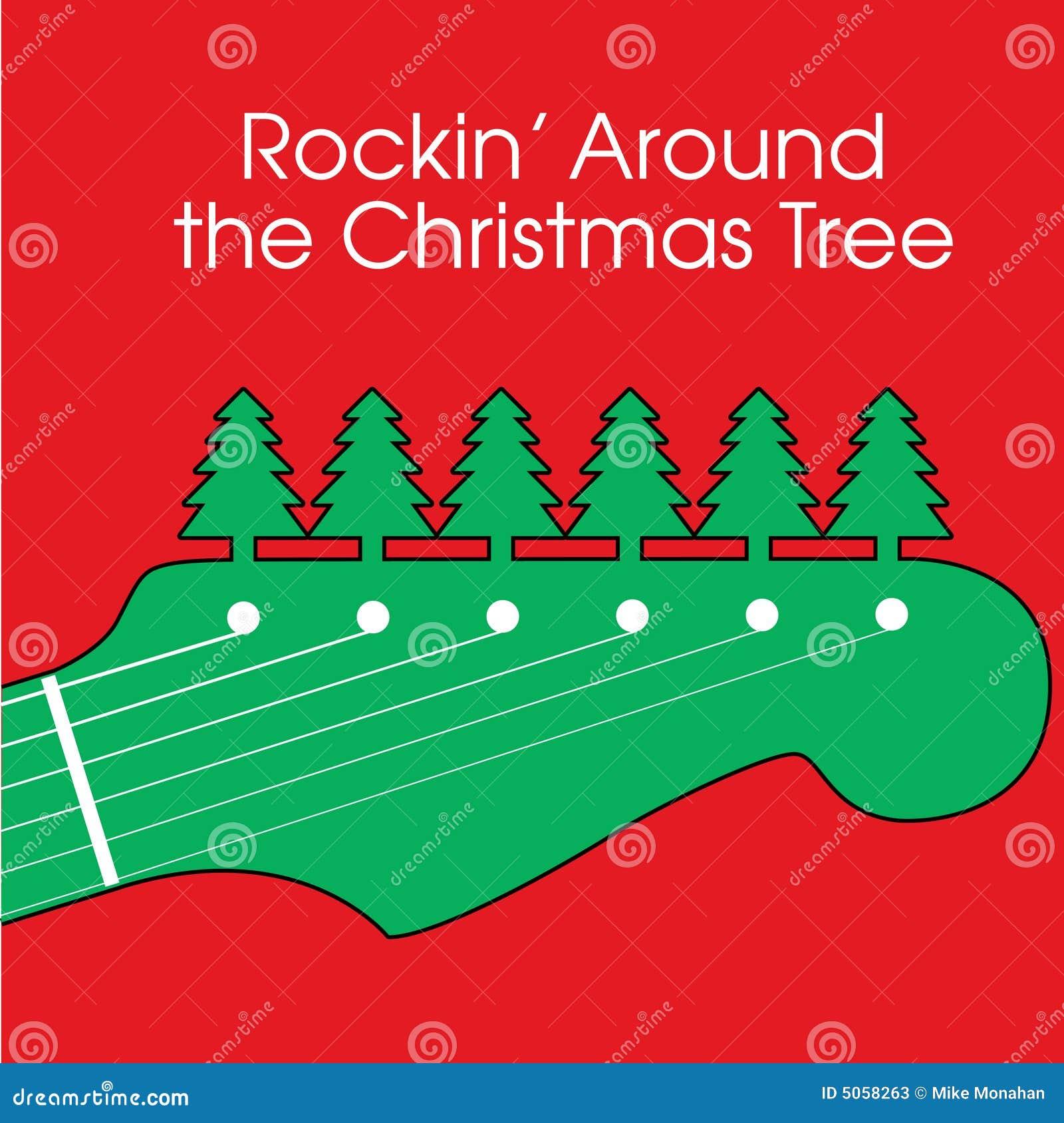 Weihnachtsgitarren-Hintergrund Vektor Abbildung - Illustration von ...