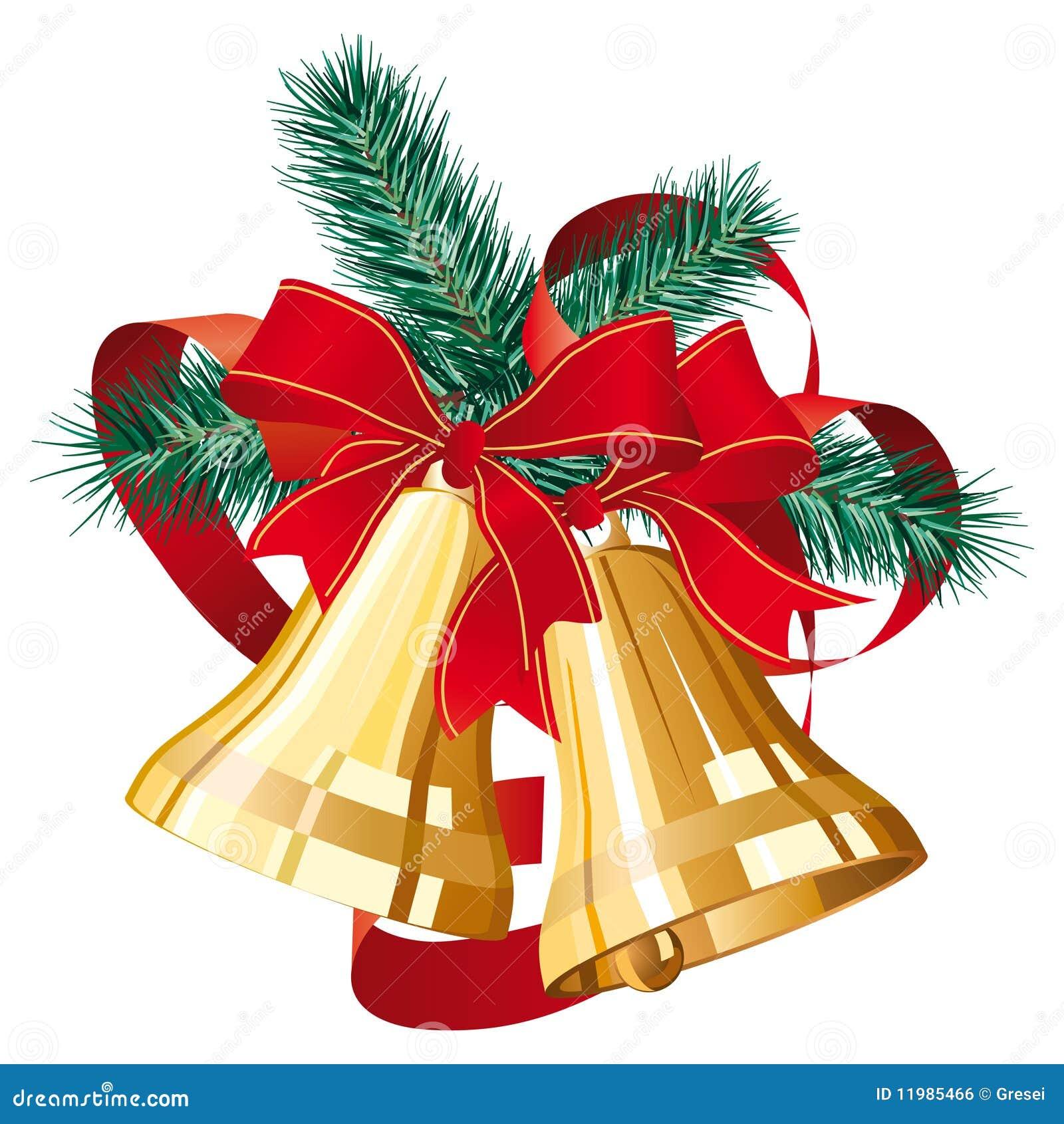 weihnachtsglocken vektor abbildung bild von immergr n. Black Bedroom Furniture Sets. Home Design Ideas
