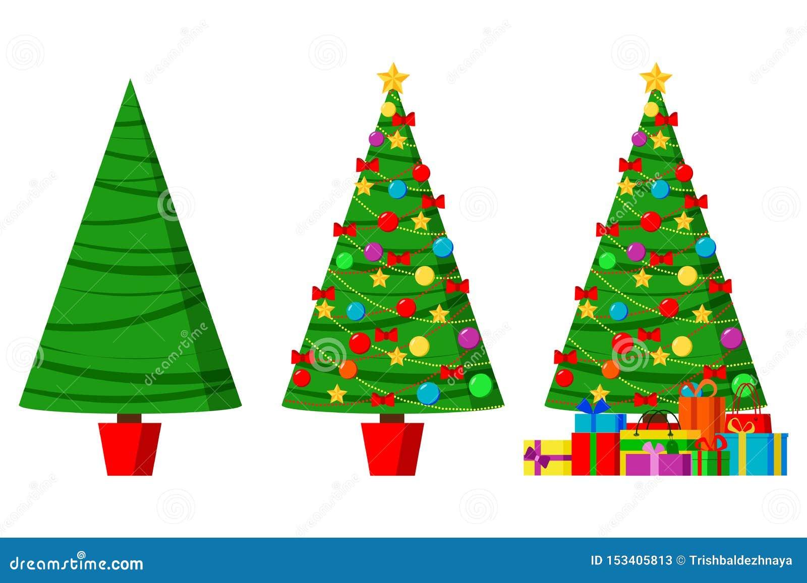 Weihnachtsgrüße stellten lokalisierte dekorative Wintergegenstände ein