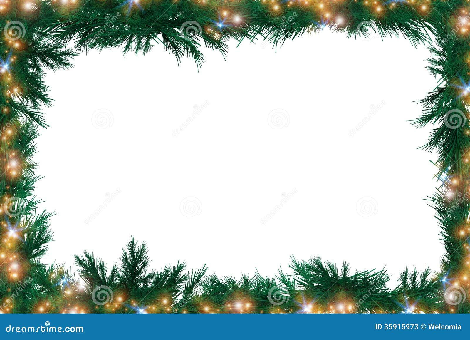 weihnachtsgr ner rahmen stockbild bild von zweig. Black Bedroom Furniture Sets. Home Design Ideas