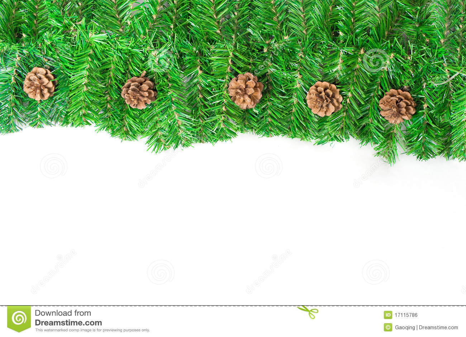 Weihnachtsgrüner Rahmen mit Kiefernadeln